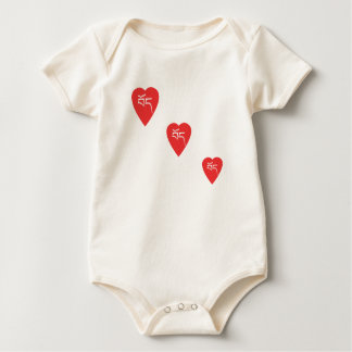 "Tibet Hearts ""Po"" Organic Baby Bodysuit"