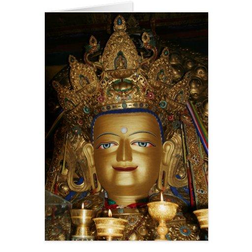Tibet Photo Card: Buddha Shakyamuni, Lhasa Tibet