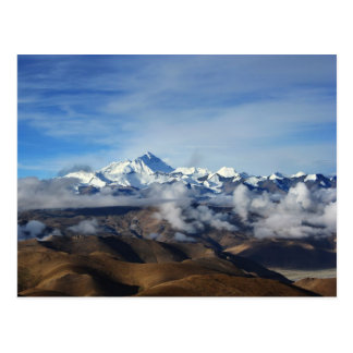 Tibet Qomolangma Mt Everest China Travel Photo Postcard