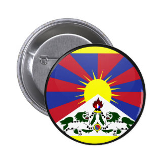 Tibet quality Flag Circle 2 Inch Round Button
