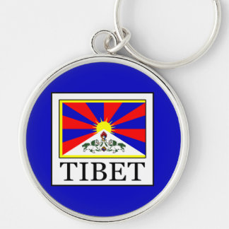 Tibet Silver-Colored Round Keychain