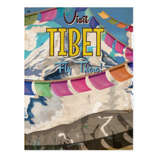 Tibet Vintage Travel Poster Postcard