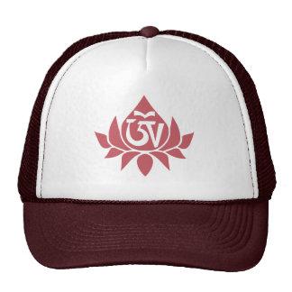 Tibetan Aum and Lotus Cap Trucker Hat