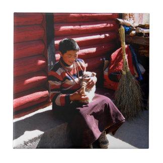 Tibetan Boy Tile