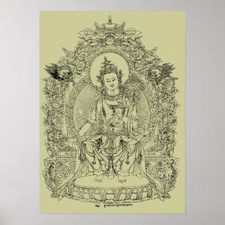 TIBETAN BUDDHA POSTER