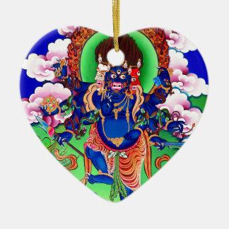Tibetan Buddhism Buddhist Thangka Ucchusma Ceramic Heart Ornament