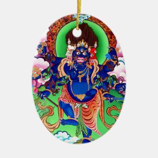 Tibetan Buddhism Buddhist Thangka Ucchusma Ceramic Oval Ornament