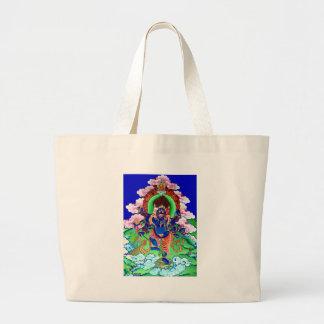 Tibetan Buddhism Buddhist Thangka Ucchusma Large Tote Bag