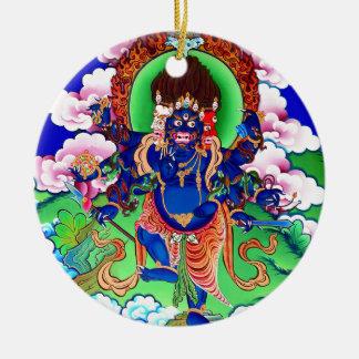 Tibetan Buddhism Buddhist Thangka Ucchusma Round Ceramic Ornament