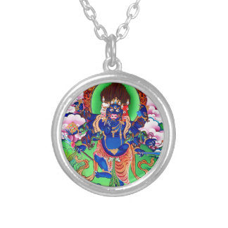 Tibetan Buddhism Buddhist Thangka Ucchusma Silver Plated Necklace