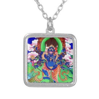 Tibetan Buddhism Buddhist Thangka Ucchusma Silver Plated Necklace