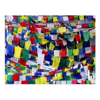Tibetan Buddhist Prayer Flags Postcard
