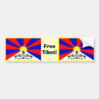 Tibetan Flag - Free Tibet! Bumper Sticker