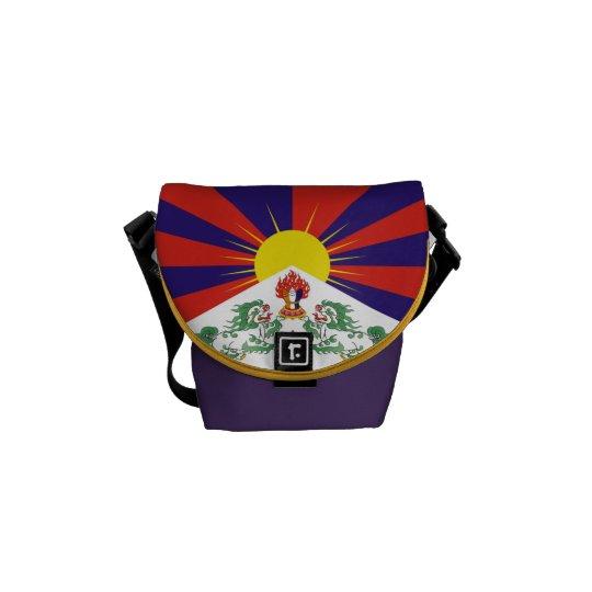 Tibetan Flag Mini Commuter Messenger Bag