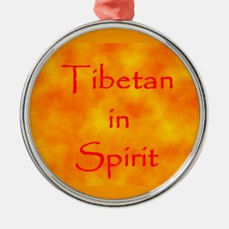 Tibetan in Spirit-prem round ornament