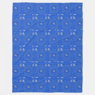 Tibetan Inspired Prayer Flag Design Fleece Blanket