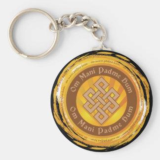 Tibetan Mantra Endless Knot Keychain