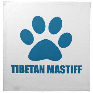 TIBETAN MASTIFF DOG DESIGNS NAPKIN