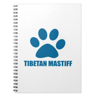 TIBETAN MASTIFF DOG DESIGNS NOTEBOOK