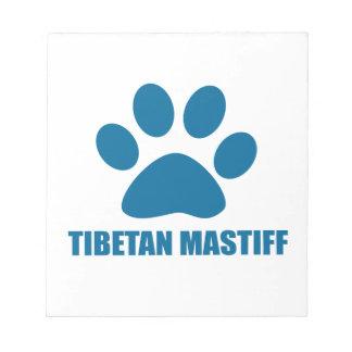 TIBETAN MASTIFF DOG DESIGNS NOTEPAD