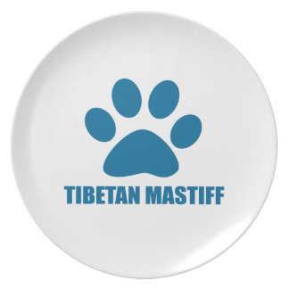 TIBETAN MASTIFF DOG DESIGNS PLATE