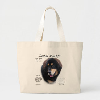Tibetan Mastiff History Design Large Tote Bag