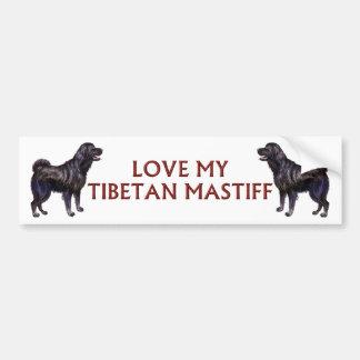 tibetan mastiff love bumper sticker