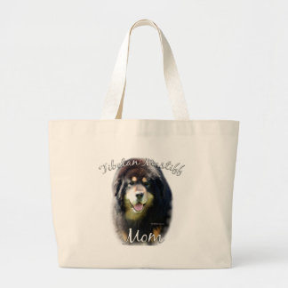 Tibetan Mastiff Mom 2 Large Tote Bag