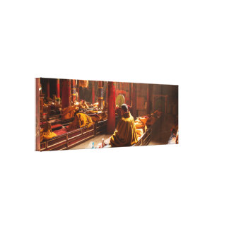 Tibetan Monk Canvas Print