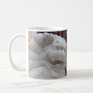 Tibetan Snow Lion Statue Coffee Mug