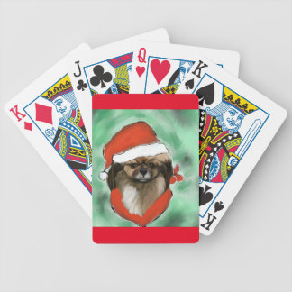 Tibetan Spaniel Bicycle Playing Cards