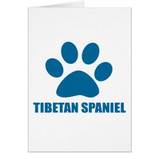 TIBETAN SPANIEL DOG DESIGNS CARD