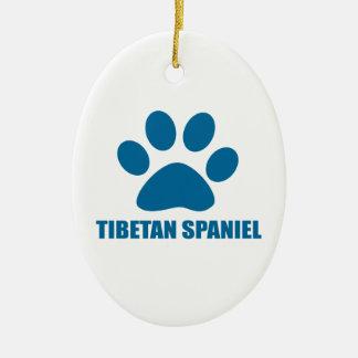 TIBETAN SPANIEL DOG DESIGNS CERAMIC ORNAMENT