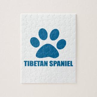 TIBETAN SPANIEL DOG DESIGNS JIGSAW PUZZLE