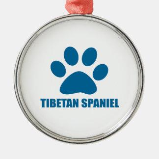 TIBETAN SPANIEL DOG DESIGNS METAL ORNAMENT