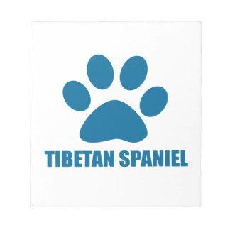 TIBETAN SPANIEL DOG DESIGNS NOTEPAD