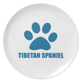 TIBETAN SPANIEL DOG DESIGNS PLATE