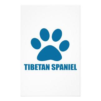 TIBETAN SPANIEL DOG DESIGNS STATIONERY