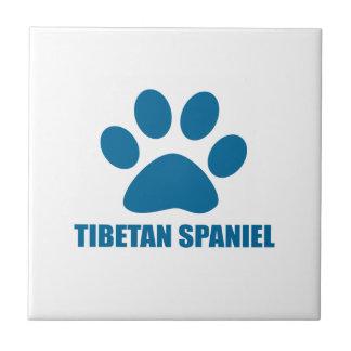 TIBETAN SPANIEL DOG DESIGNS TILE