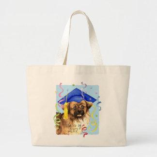 Tibetan Spaniel Graduate Large Tote Bag