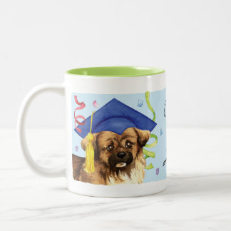 Tibetan Spaniel Graduate Two-Tone Coffee Mug
