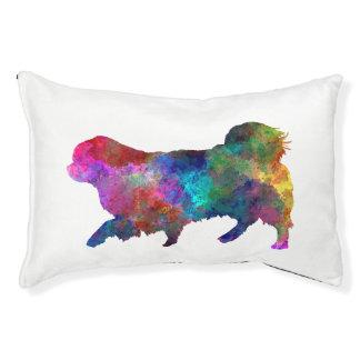Tibetan Spaniel in watercolor Pet Bed