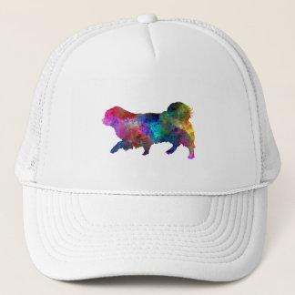 Tibetan Spaniel in watercolor Trucker Hat