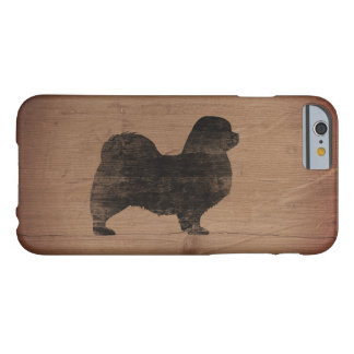 Tibetan Spaniel Silhouette Rustic Barely There iPhone 6 Case