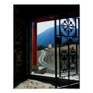 Tibetan Temple Photoraph Poster