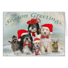 Tibetan Terrier  Christmas With Friends Card