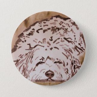 Tibetan Terrier - Contentment 3 Inch Round Button