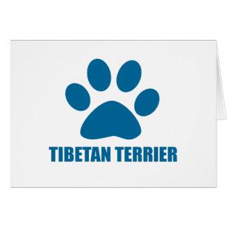 TIBETAN TERRIER DOG DESIGNS CARD