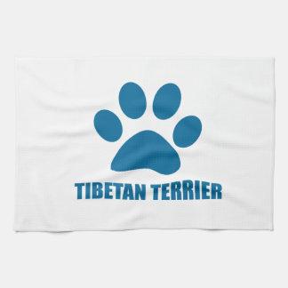 TIBETAN TERRIER DOG DESIGNS KITCHEN TOWEL