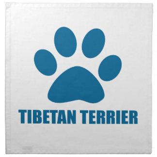 TIBETAN TERRIER DOG DESIGNS NAPKIN